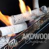 Comment disposer les bûches céramiques dans la cheminée ethanol?