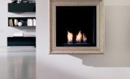 Bio ethanol cheminée – Tableau peint avec le feu