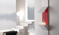 Un intérieur minimaliste avec la cheminée au bioéthanol Horus