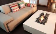 Une flamme relaxante de la cheminée au bioéthanol
