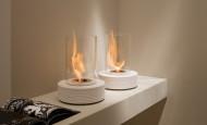 Bio cheminée Track – un marbre froid réchauffé par la flamme