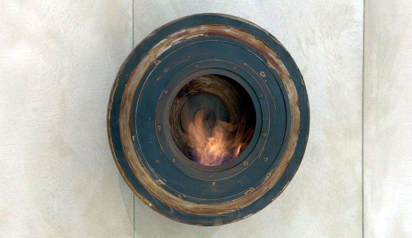 cheminee ethanol rustique