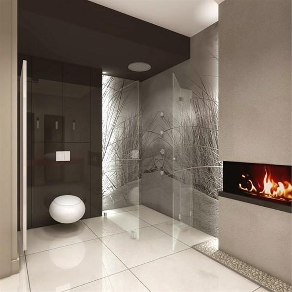 Chemin e ethanol une ambiance romantique de la salle de for Salle de bain romantique