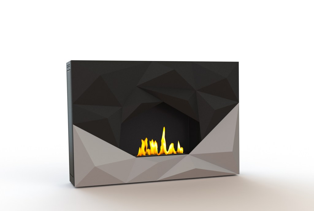 l co chemin e crystal une flamme habill e en cristal lovter. Black Bedroom Furniture Sets. Home Design Ideas